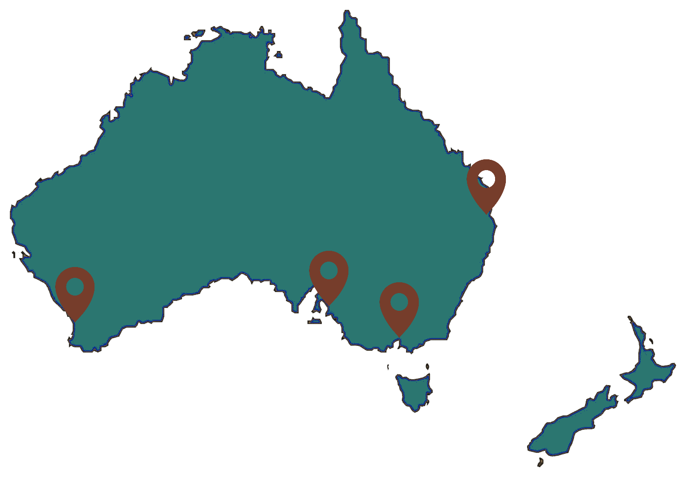 Greenfern office locations around Australia